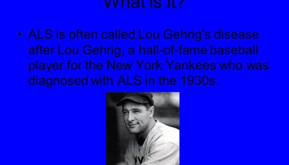 Lou Gehrig's Disease Hits Close to Home